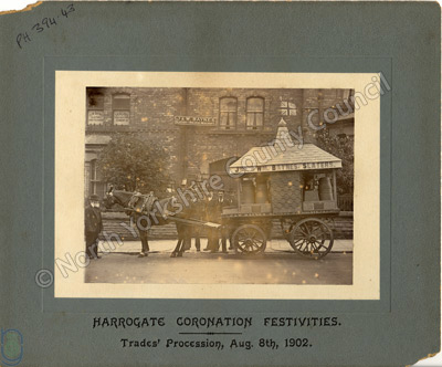 Harrogate: coronation procession for Edward VII